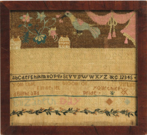 Elisabeth Day Hall (1772-1858) Needlework Sampler, courtesy Stan & Carol Huber