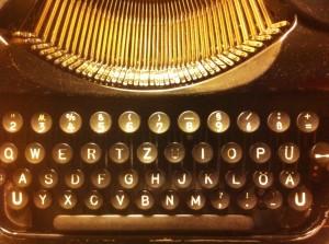 foraged 1930s Olympia typewriter