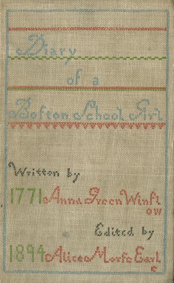Diary of a Boston School Girl
