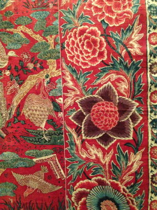 detail of cotton 'Palampore' made in India, first quarter of 18th century