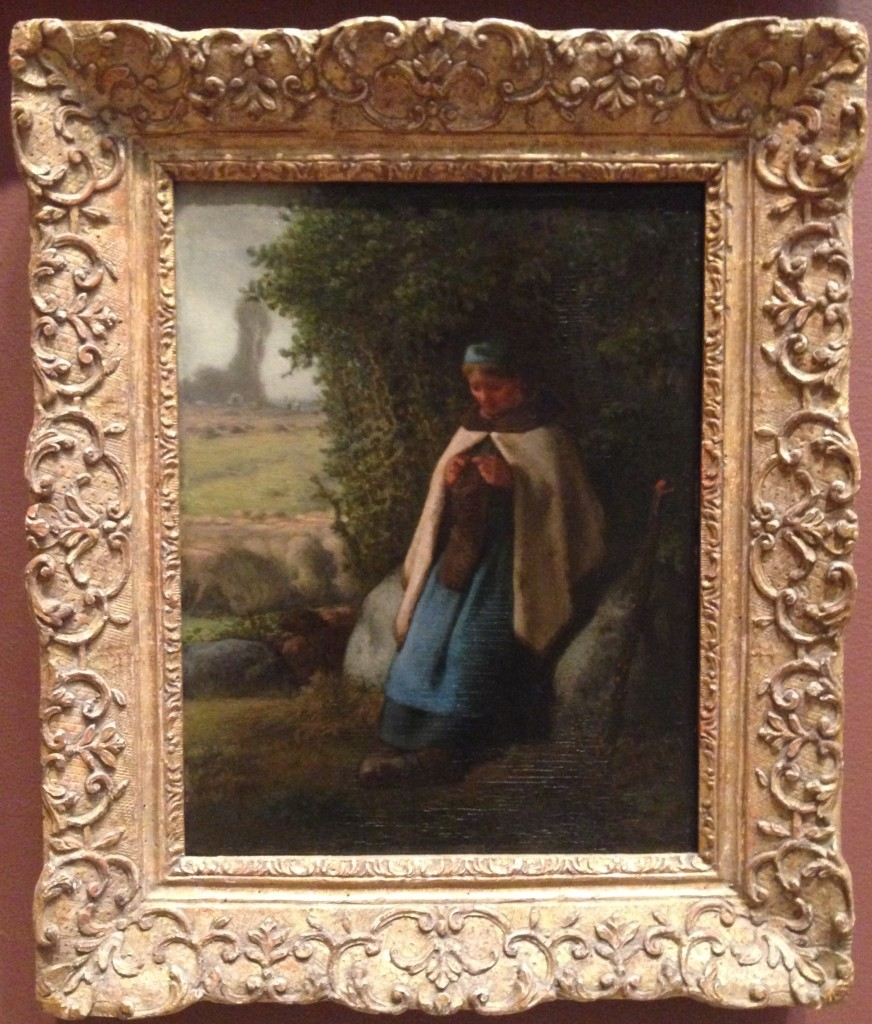 Jean-Francois Millet, Shepherdess Seated on a Rock, 1856 (Metropolitan Museum of Art)
