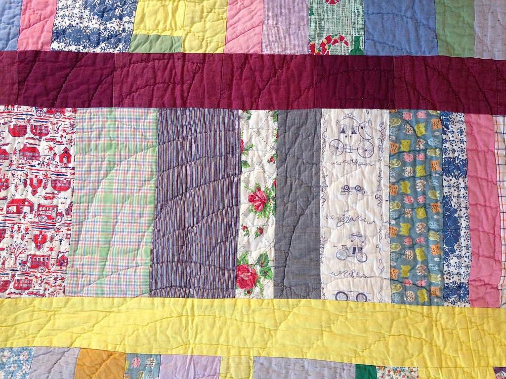 one of the 'scrap' quilts made by Nannie